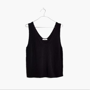 Springdale Sweater Tank in Black